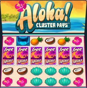 Игровой автоматический прибор Aloha Cluster Pays представлять бесплатно