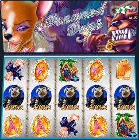 Игровой автоматическое устройство Diamond Dogs дуться бесплатно