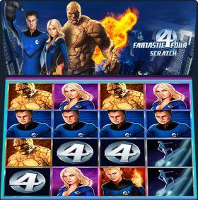 Игровой механизм Fantastic Four Scratch представлять бесплатно
