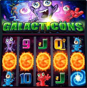 Игровой аппарат Galacticons ходить бесплатно