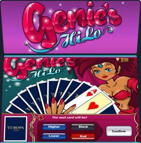 Игровой аппарат Genies HiLo дуться бесплатно
