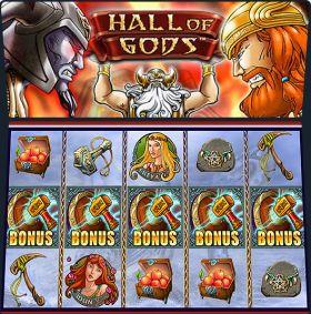 Игровой автоматическое устройство Hall of Gods выступать бесплатно
