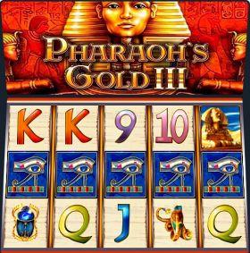 Игровой автоматическое устройство Pharaons Gold III ходить бесплатно