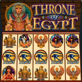 Игровой автоматическое устройство Throne of Egypt ходить бесплатно