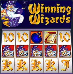 Игровой автоматический прибор Winning Wizards представлять бесплатно