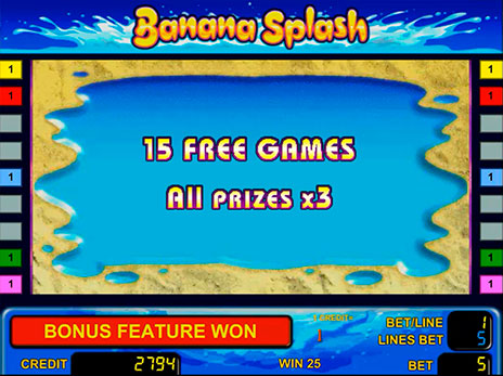 Онлайн автоматы Banana Splash 15 бесплатных игр