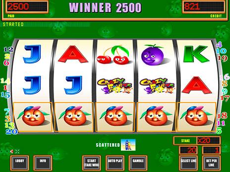 Игровые автоматы онлайн бесплатно crazy fruits интернет казино вступительный бонус