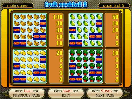 игровые автоматы fruit cocktail играть бесплатно