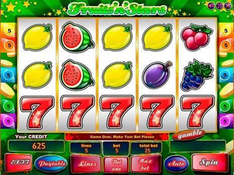 Лучшие игровые автоматы онлайн - Фрукты и звезды