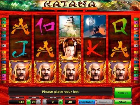 бесплатный игровой автомат Katana