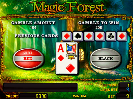 Онлайн слоты Magic Forest риск игра