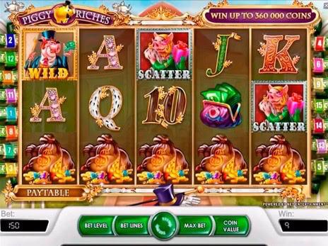 Игровой автомат Piggy Riches — Бесплатный игровой автомат для мобильной игры