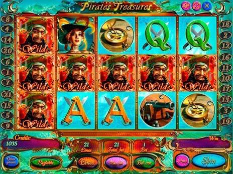 играть в автомат сокровища пиратов