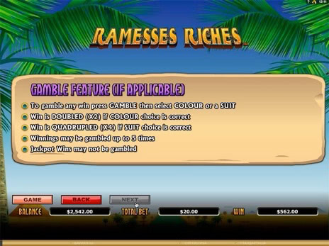 Онлайн автоматы Ramesses Riches описание риск игры