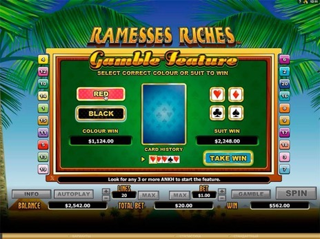 Онлайн автоматы Ramesses Riches риск игра