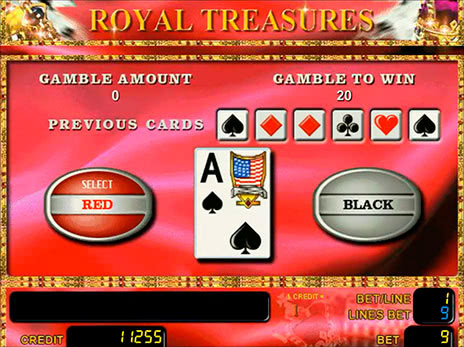 Онлайн слоты Royal Treasures риск игра