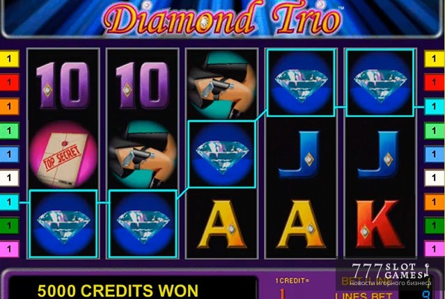Игровой автомат Diamond Trio из серии Multi Gaminators